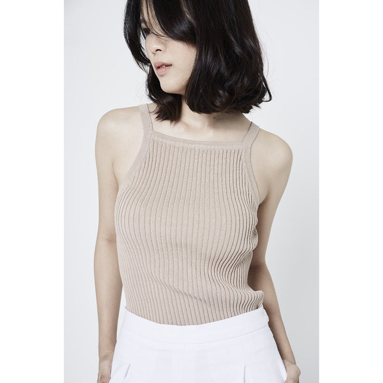 Cadence Knitted Top - Beige