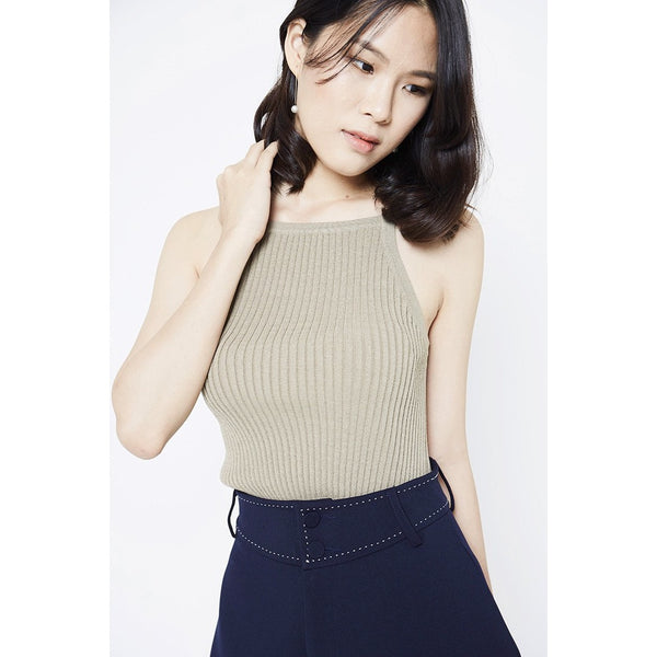 Cadence Knitted Top - Brown