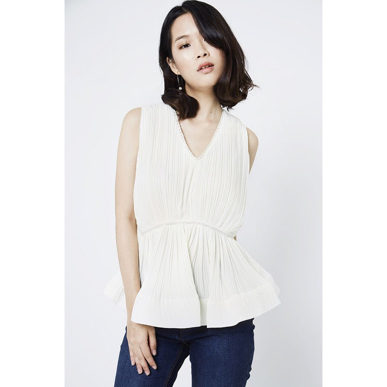 Dora Peplum Top - White