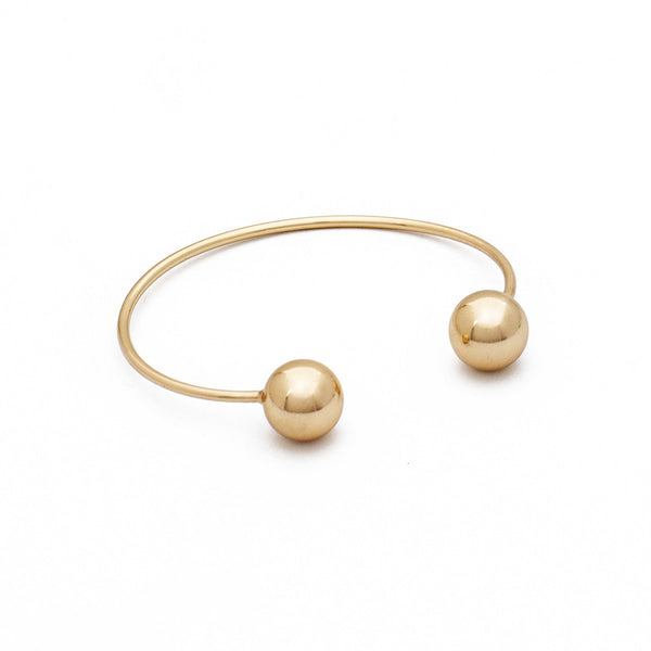 Ball End Bangle - Gold