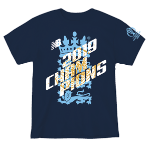 2019 England World Cup Champions Tee Blue