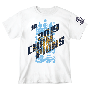 2019 England World Cup Champions Tee White