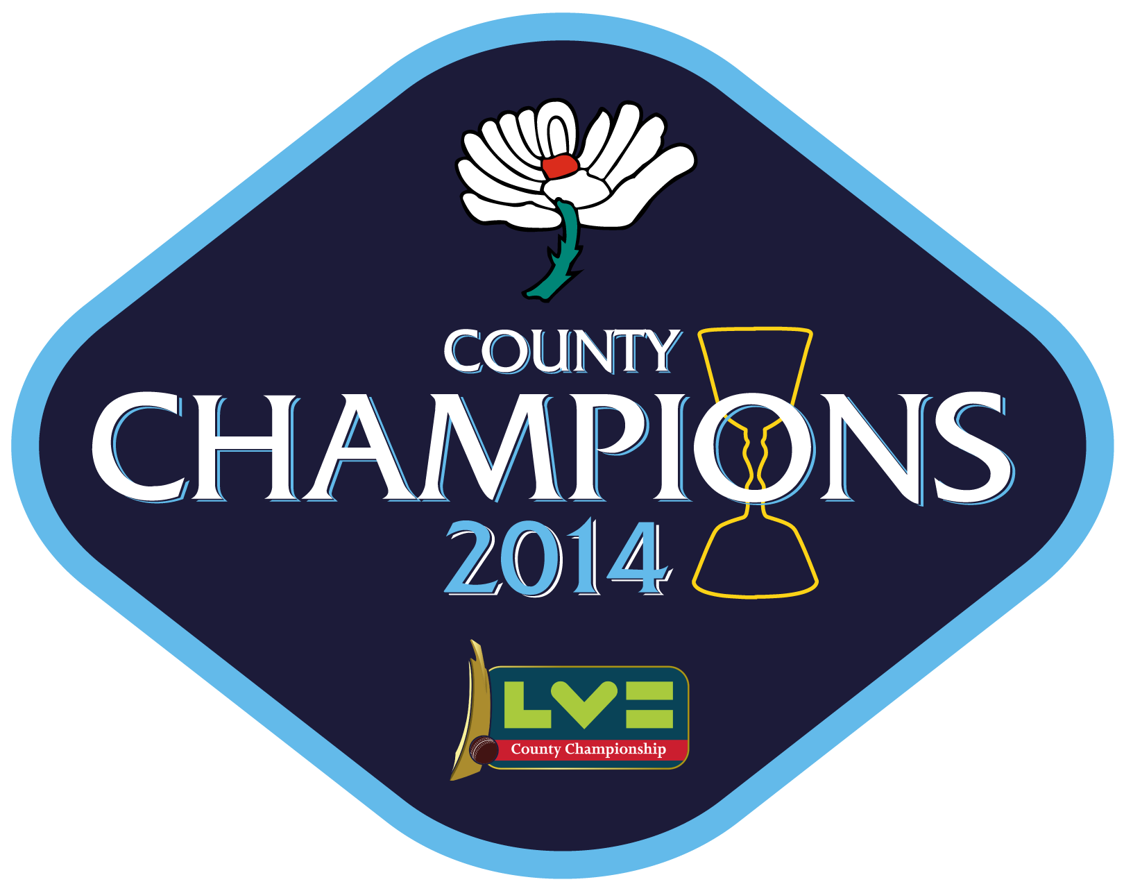Yorkshire CCC 2014 Champions Pin Badge