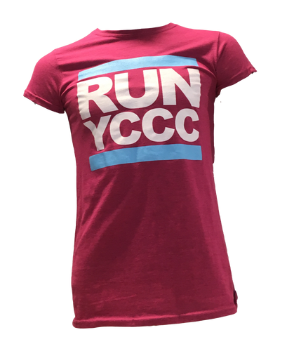 "Ladies pink ""RUN"" t. shirt"