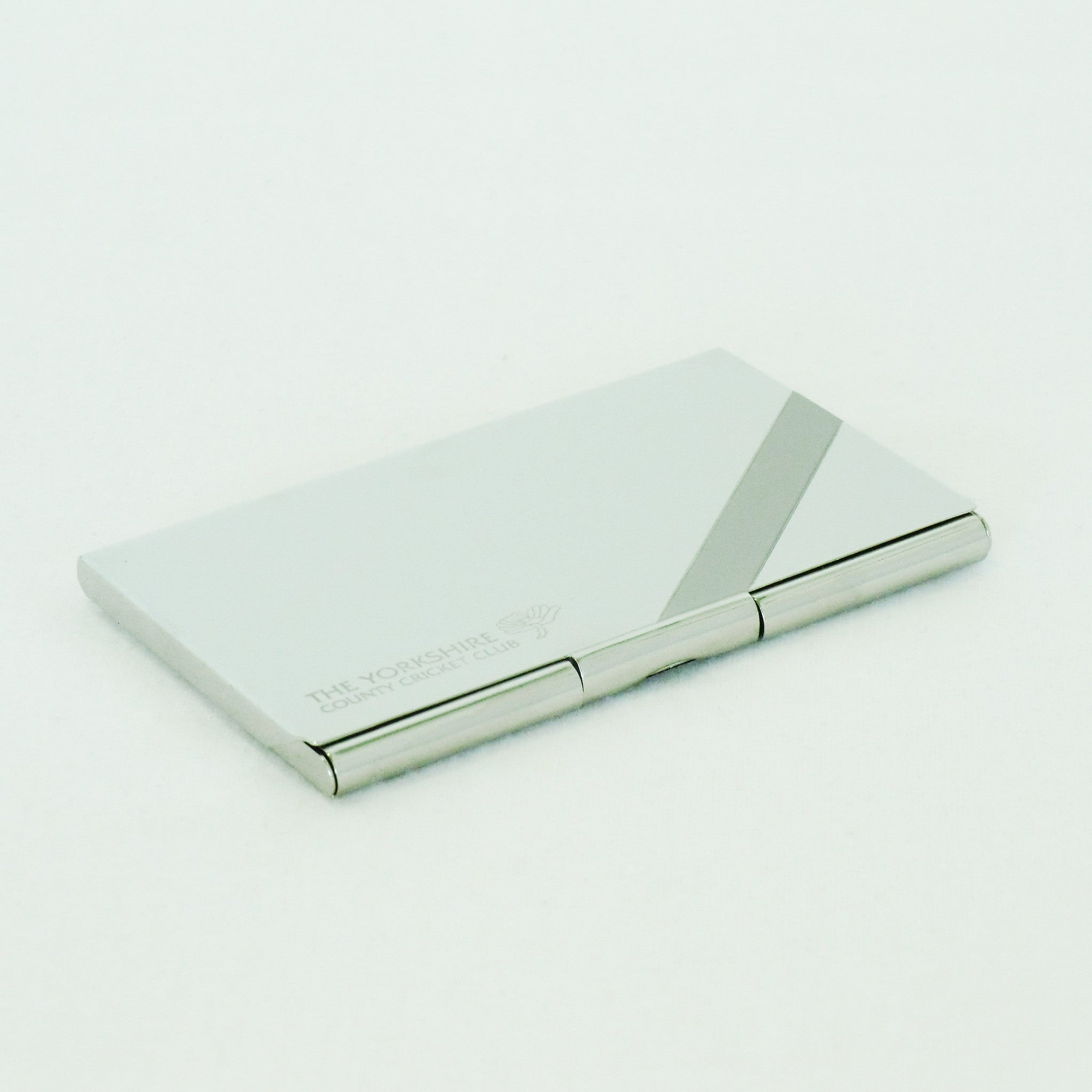 yorkshire ccc silver business card holder - Silver Business Card Holder