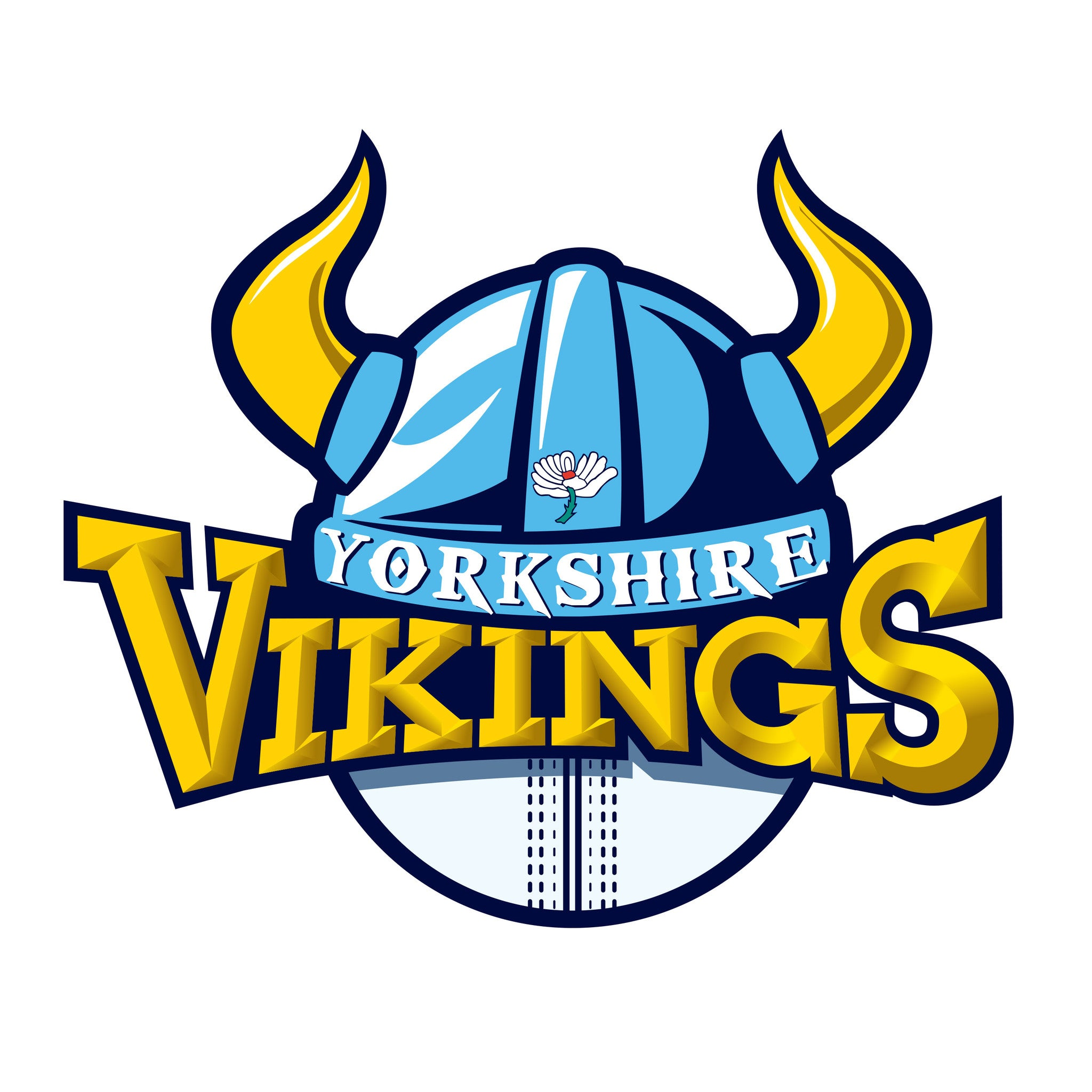 Yorkshire Vikings Crest Car Sticker Yorkshire County