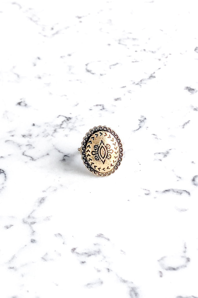 Concho Ring Gold