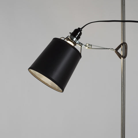 small lighting. kevin clip light small. black and silver foil small lighting