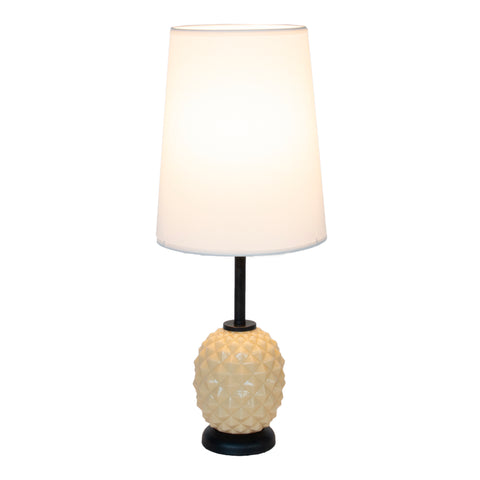 Pineapple Table Lamp - Coconut Glass