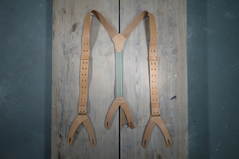 Brass Hook Leather Suspenders