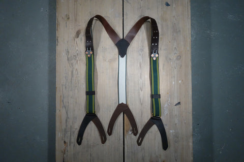 Rifle Hook Leather/Elastic Suspenders