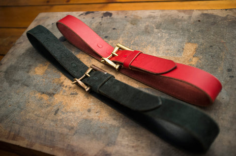 Quick Release Leather Belt