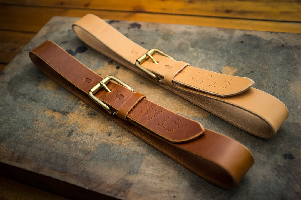 West End Roller Leather Belt 38MM