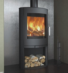 Broseley eVolution Flair 8 Stove with log store  |Broseley eVolution Flair 8 poêle à bois avec compartiment à bûches