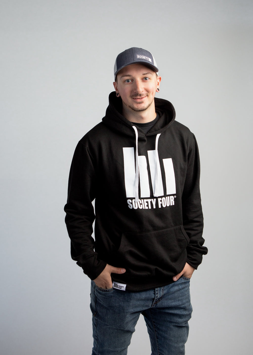 Men's Hoodie - Icon Logo - Black