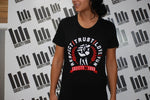 Women's Iron Fist Tee - Black & Red