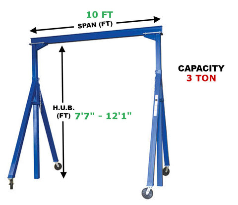 Vestil Adjustable Gantry Crane | AHS-6-10-12