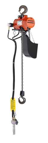 CMCO AirStar Air Chain Hoist - Hook Suspension, Pendant Control