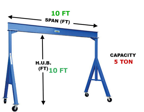 Vestil Fixed Gantry Crane | FHS-10-10