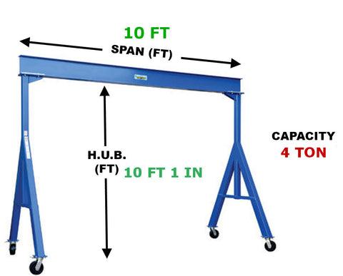 Vestil Fixed Gantry Crane | FHS-8-10