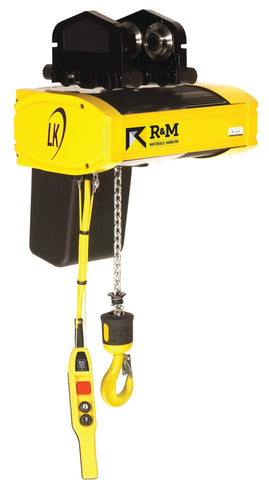 R&M LK Hoist with Push Trolley - Single Phase