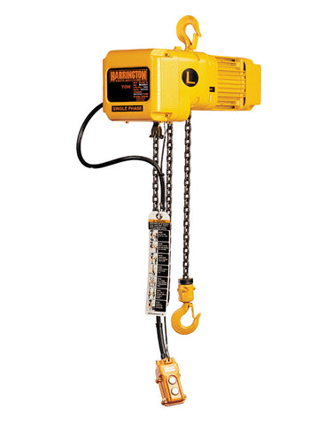 Harrington SNER Electric Chain Hoist - Single Speed