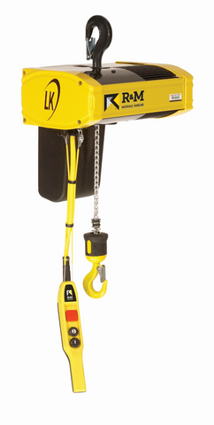 R&M LK Electric Chain Hoist - Dual Speed Lift - Top Hook Suspension