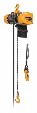 Harrington SEQ Single Phase Electric Hoist | Hook Suspension