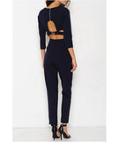2 Piece Pant Set Navy
