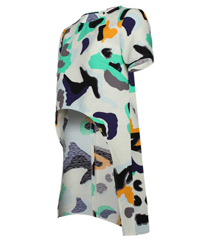 Abstract High Low Shirt
