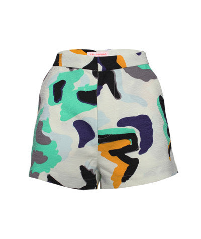 Abstract High Waist Shorts