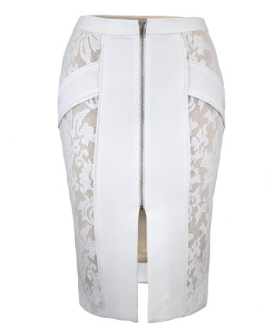 Alessandra Skirt White