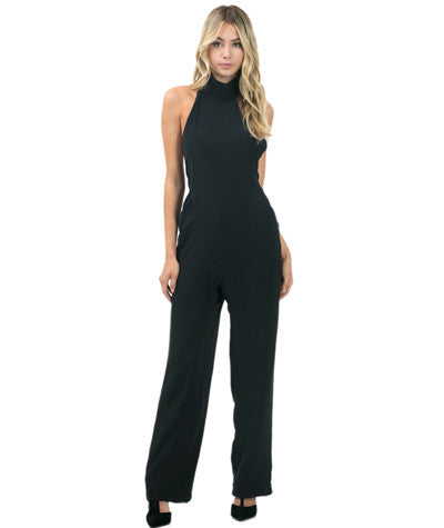 Backless Wide Leg Jumpsuit