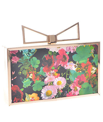 Bow Clutch Floral