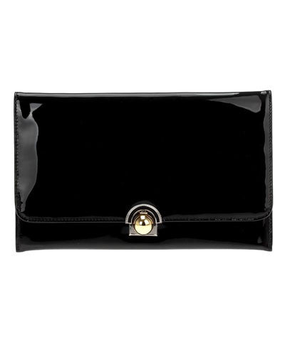 Buckle Clutch Black