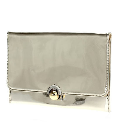 Buckle Clutch Gold