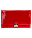 Buckle Clutch Red