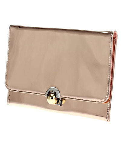 Buckle Clutch Rose Gold