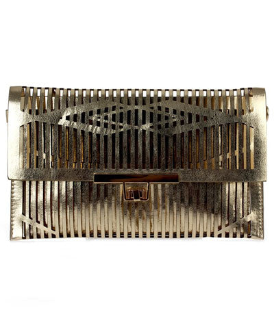 Cage Clutch Gold