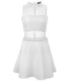 Caroline Court Dress White