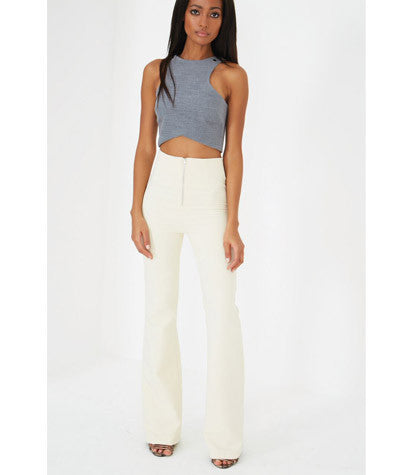 Zip Detail Flares Cream