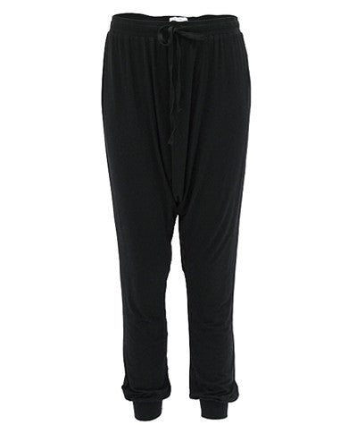 Drop Crotch Pants Black