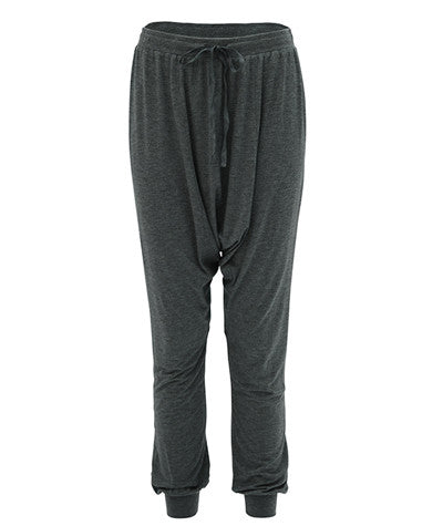 Drop Crotch Pants Gray
