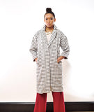 Grid Lined Duster Coat