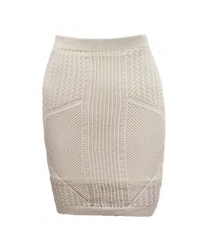 Emerald Eyes Knit Skirt White