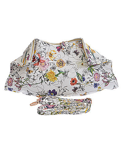 Floral Foldover Clutch
