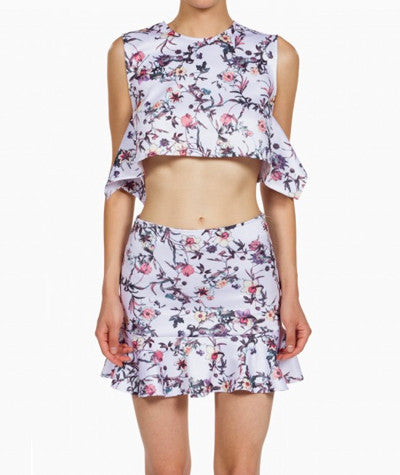 Flouncy Floral Crop Top