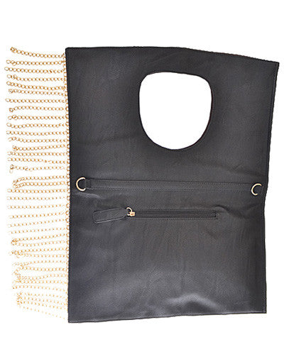 Folded Over Chain Bag