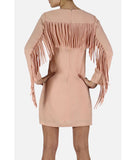 Fringe Back Dress