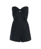 Sweetheart Bow Romper Black
